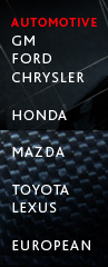 Automotive - GM, Ford, Chrysler, Honda, Mazda, Toyota Lexus & European